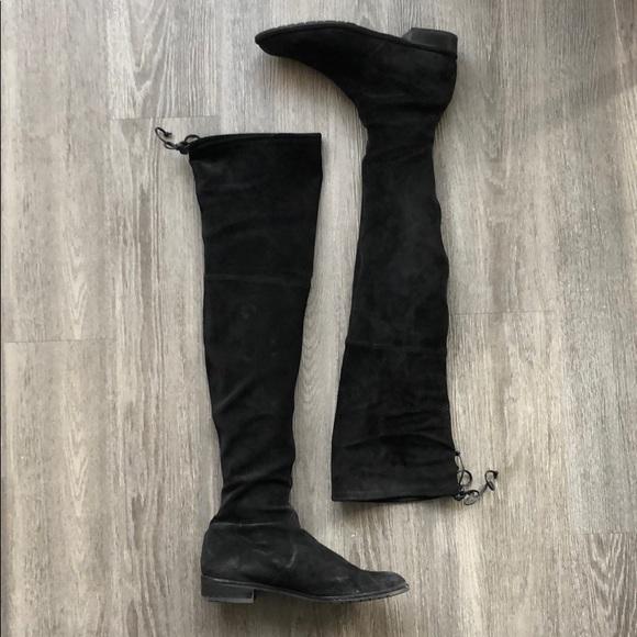 6231d5e8fdc Stuart Weitzman Lowland Boots Black Suede - Size 9